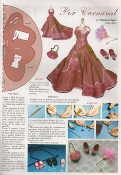 one twelfth scale miniature doll clothes pattern victorian - Google Search