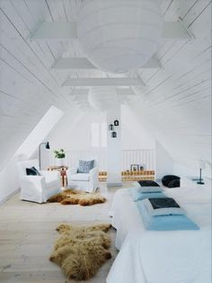 dormitorio  #Decoración #buhardillas #Dormers #garrets #attics