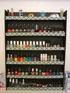 another DIY nail polish rack, but on a blog with written instructions