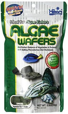 Algae Wafers were specifically developed for the hard to feed plecostomus and other algae eating bottom feeders. Hikari was the originator of this diet now copied by many. Accept no substitutes requ...