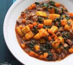 Paleo Dinner Recipes Index – You Always Need More Paleo Butternut Squash Beef Chilli Stew Primal Recipes, Beef Recipes, Real Food Recipes, Soup Recipes, Cooking Recipes, Dinner Recipes, Slow Cooking, Paleo Stew, Butternut Squash
