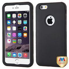 MYBAT VERGE Hybrid iPhone 6/6s Plus Case - Rubberized Black/Black