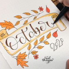 October bullet journal cover page