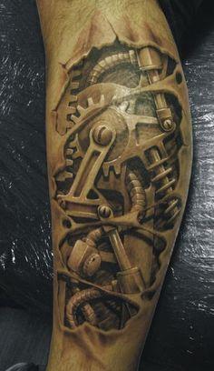 I love biomechanical/organic type tattoos #ink #Tattoo #Art