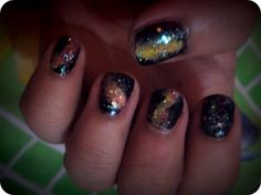 tried the galaxy nails.<3 it!