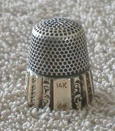 Sterling Silver 14k Gold Ketcham McDougall Antique Thimble 9 Ornate K Mcd | eBay