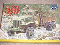 Modelo kit ITALERI 1/35 USARMY 2 1/2 TON CARGO TRUCK Nuevo, pero abierto picclick.com