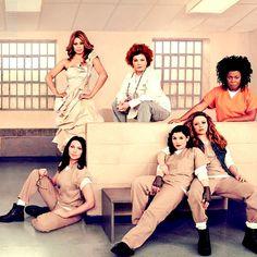 Orange Is The New Black:  Sophia Burset, Red / Galina Reznikov, Vee / Yvonne Parker, Alex Vause, Lorna Morello, and Nicky Nichols.