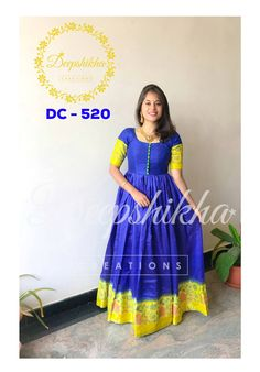 DC - Beautiful yellow and red color combination ankle length anarkali dress with red net dupatta. anarkali dress with hand embroidery thread work. Long Anarkali Gown, Long Gown Dress, Frock Dress, Saree Dress, Dress Skirt, Indian Long Dress, Indian Gowns Dresses, Dress Indian Style, Indian Wear