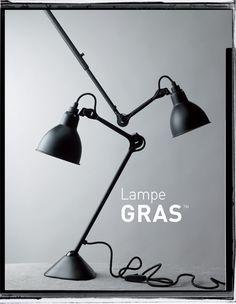 La Lampe Gras designed by architect Bernard-Albin Gras Industrial Lighting, Vintage Lighting, Interior Lighting, Home Lighting, Lighting Design, Light Fittings, Light Fixtures, Architect Table, Lampe Gras