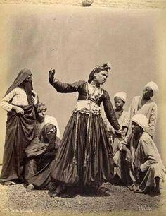 antique photo of the Ghawazee dancers outside Cairo - shared by Farhana Masri