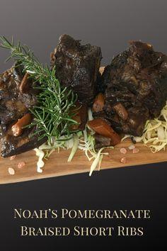 Braised Short Ribs, Beef Short Ribs, Beef Ribs, Dutch Oven Recipes, Rib Recipes, Pomegranate Molasses, Meat Meals