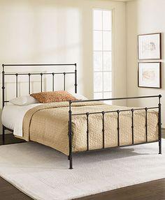 kingston mahogany gold full metal bed macys full 189 til - Iron Bed Frames Queen