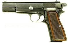 Browning  Hi-Power, used by both US and Germany as a sidearm in WW2.NATIONAL 9MMLoading that magazine is a pain! Get your Magazine speedloader today! http://www.amazon.com/shops/raeind