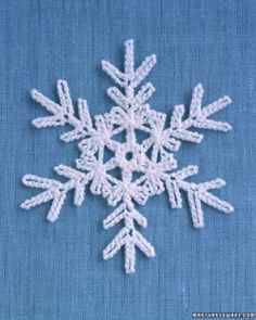 Crochet Motif Martha Stewart Snowflake free crochet pattern - Free Crochet Snowflake Patterns - The Lavender Chair - I can't wait to decorate my house with all of these snowflake crochet patterns! Perfect for decorating the home! Free Crochet Snowflake Patterns, Crochet Stars, Christmas Crochet Patterns, Crochet Motifs, Holiday Crochet, Crochet Snowflakes, Christmas Snowflakes, Thread Crochet, Crochet Crafts