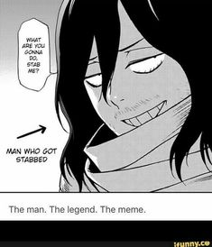These are the funniest and newest anime memes ever created. Anime memes, like most memes, make that anime funny by adding their own ideas to the scene. Boku No Hero Academia, My Hero Academia Memes, Hero Academia Characters, My Hero Academia Manga, Anime Bebe, M Anime, Beautiful Boys, Shouta Aizawa, Animes On