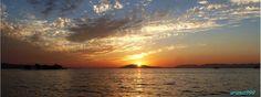 Lake Shinji in Matsue, Shimane Prefecture, Japan