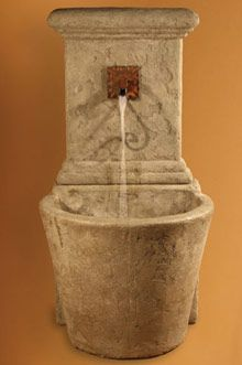 Wall Fountain: French Wall Fountain (5 Ft)