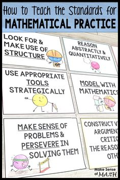 Check out some great ideas on how to teach and implement the standards for mathematical practice in your math classroom. Includes link to 8 posters to hang in your classroom.  If you use the common core you should be teaching these standards for mathematical practice. Click here to learn more. #makesenseofmath #mathematicalpractice Standards For Mathematical Practice, Mathematical Practices, Fun Math Activities, Math Resources, Seventh Grade Math, Teaching Math, Teaching Ideas, Critical Thinking Skills, Common Core Math