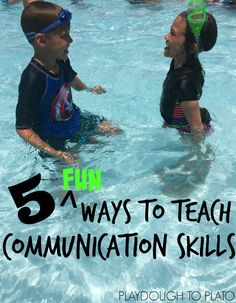 5 Fun Ways to Teach Kids Communication Skills. Teaching eye contact, tone of voice, listening and stop interrupting. Tons of helpful ideas!