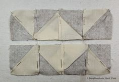 Neighborhood Quilt Club: Starting Point - Quilt Block Tutorial Pinwheel Quilt Pattern, Quilt Patterns, Quilt In A Day, Half Square Triangles, Block Of The Month, Pinwheels, One Light, Quilt Blocks, The Neighbourhood