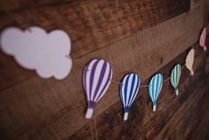 Hot Air Balloon Banner {COLOURS CUSTOMIZABLE} - Oh the Places You'll Go, Cloud Party, Shower Garland, Nursery Decor by CutPartySupplies on Etsy Nursery Decor, Garland Nursery, Cloud Party, Balloon Banner, Hot Air Balloon, Oh The Places You'll Go, Twine, Card Stock, Paper Garlands