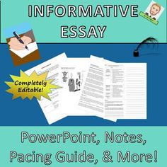 Informative Essay Complete Common Core Lesson Plan ~ Distance Learning High School Writing, Writing Test, Essay Writing, Art School, School Essay, Writing Workshop, English Lesson Plans, English Lessons, Middle School Teachers