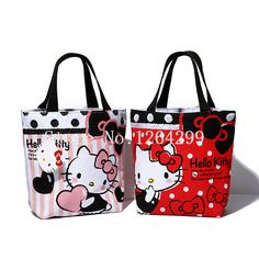 US  9.9  New Fashion Hello Kitty Girls Woman Small Canvas Zipper Handbags  Kids Lunch Bags For Children Gifts -in Top-Handle Bags from Luggage   Bags  on ... c328e51026