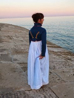 eva´s kleidertruhe: Marine Spencer Royal Navy Uniform, Jane Austen, Star Designs, Historical Clothing, Fast Fashion, Regency, Victorious, Mantel, Poses