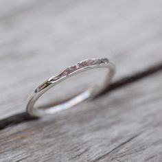 Raw pink diamond ring // Hidden Gems - Gardens of the Sun Jewelry