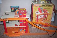 1969 Mattel Hot Wheels Tune-up Tower in Original Box Sizzlers Power Pit- Redline #HotWheels