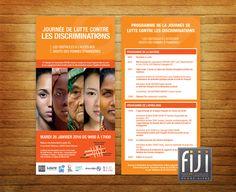 Création d'un flyer pour la Journée de Lutte contre les Discriminations organisé par l'association Femmes Informations Juridiques Internationales de Rhône-Alpes (FIJI-RA).