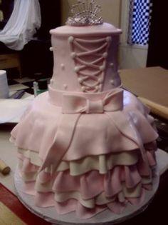 "Princess cake ballerina dress crown ""ballerina dress"" by Royalty_Cakes, via Flickr"