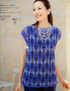 โครเชต์มหัศจรรย์: เสื้อคลุมรัดเอวของCrochê_Japonês