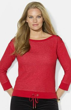 Lauren Ralph Lauren French Terry Top (Plus Size) | Nordstrom