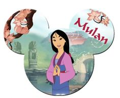 Disney Princess - Mulan Mickey Mouse Head, Mickey Y Minnie, Disney Movie Characters, Disney Movies, Disney Day, Walt Disney, Disney Frames, Beloved Movie, Autograph Book Disney