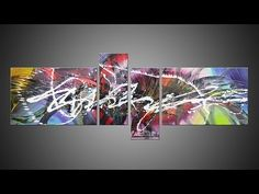 Abstract acrylic painting Demo HD Video - Treefingers by John Beckley - YouTube
