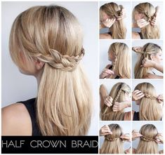 Half Crown Braid. Like And Save For More. <3