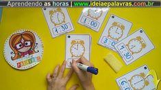 Jogo Pedagógico Aprendendo as Horas   Atividade de Alfabetização Matemát... Monopoly, Games, Gaming, Plays, Game, Toys