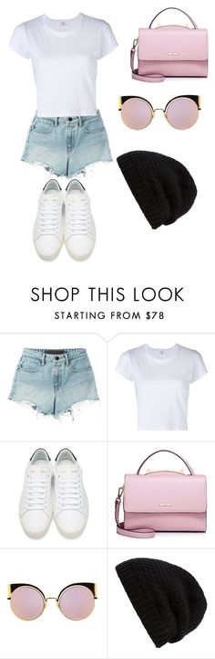 """""""Untitled #18"""" by ashleighmorri ❤ liked on Polyvore featuring T By Alexander Wang, RE/DONE, Yves Saint Laurent, WithChic, Fendi and Rick Owens"""