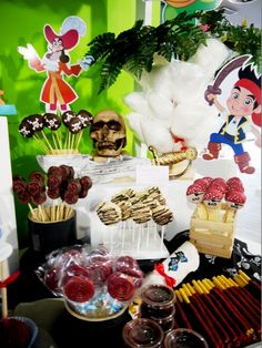 Cool treats at a Jake and the Neverland Pirates party!  See more party ideas at CatchMyParty.com!  #pirate #partyideas