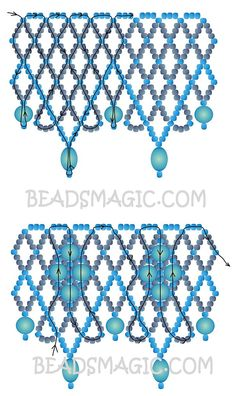 free-pattern-beading-necklace-tutorial-2 U need:  seed beads 11/0  round beads 4 mm and 6 mm  flat oval beads: