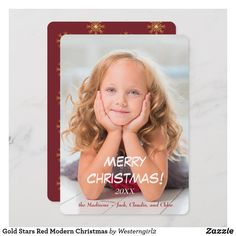 Shop Gold Stars Red Modern Photo Template Christmas created by Personalize it with photos & text or purchase as is! Modern Christmas Cards, Holiday Cards, Christmas Holidays, Merry Christmas, Christmas Templates, Gold Stars, Paper Texture, Joy, Prints