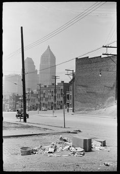 "Houses on ""The Hill"", Pittsburgh, Pennsylvania; 1938"
