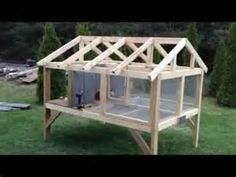 rabbit hutch - How to build an outdoor rabbit hutch. This is a large ...