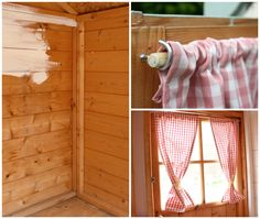 Curtains for garden shed window