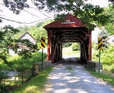 Covered Bridge - About 6 miles west of PA 231 to West Finley, then 0.7 mile north of town on SR 3037 and just left to the bridge. Washington Co - PA