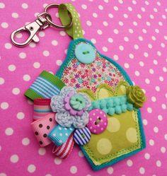 Cupcake Bag Charm - Folksy