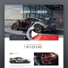 Legendär __ a tribute site for a Legendary Beast! The Porsche 911 RS. Design by . Design Web, Web Design Quotes, Modern Web Design, Web Design Trends, Design Blog, Page Design, Graphic Design, Website Design Inspiration, Website Design Layout
