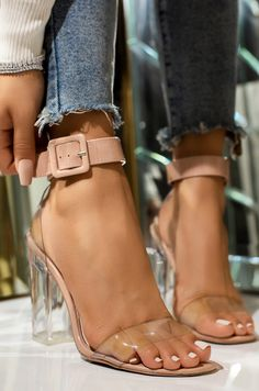 Nude High Heels, Nude Shoes, Lace Up Heels, Stiletto Heels, Shoes Heels, Heeled Sandals, Clear Heels, Shoes Stand, Fashion Clothes